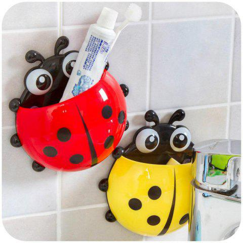 Cute Wall Suction Toothbrush Holder - RED