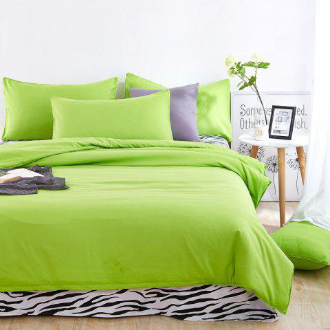Home Bedding Sets Soft Solid Comfortable Sea Green Duver Quilt Cover Sheet Pillowcase Full Bedclothes 4Pcs/Set - COFFEE QUILTCOVER(200*230CM)BEDSHEET(230*230CM)PILLOWCA