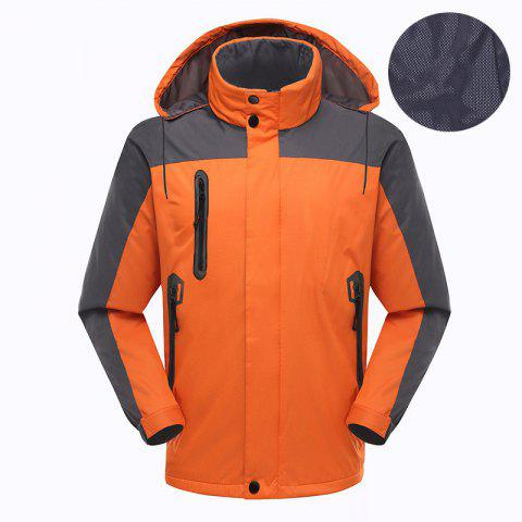 The Rescue Team Work Jacket Outdoor Clothing Waterproof Cold Frock Coat - RED L