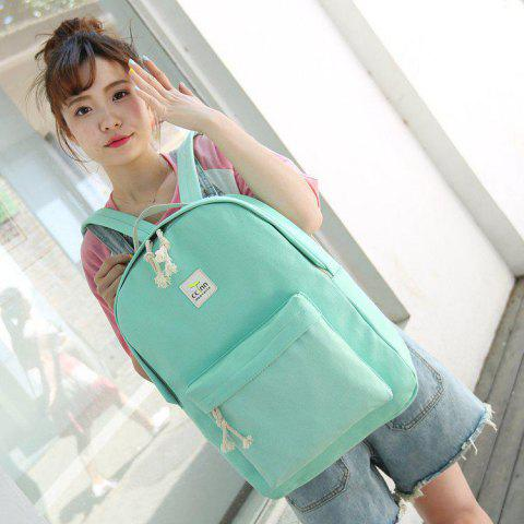 Double Shoulder Fashion Girl Backpack Academy Student - ROSE RED