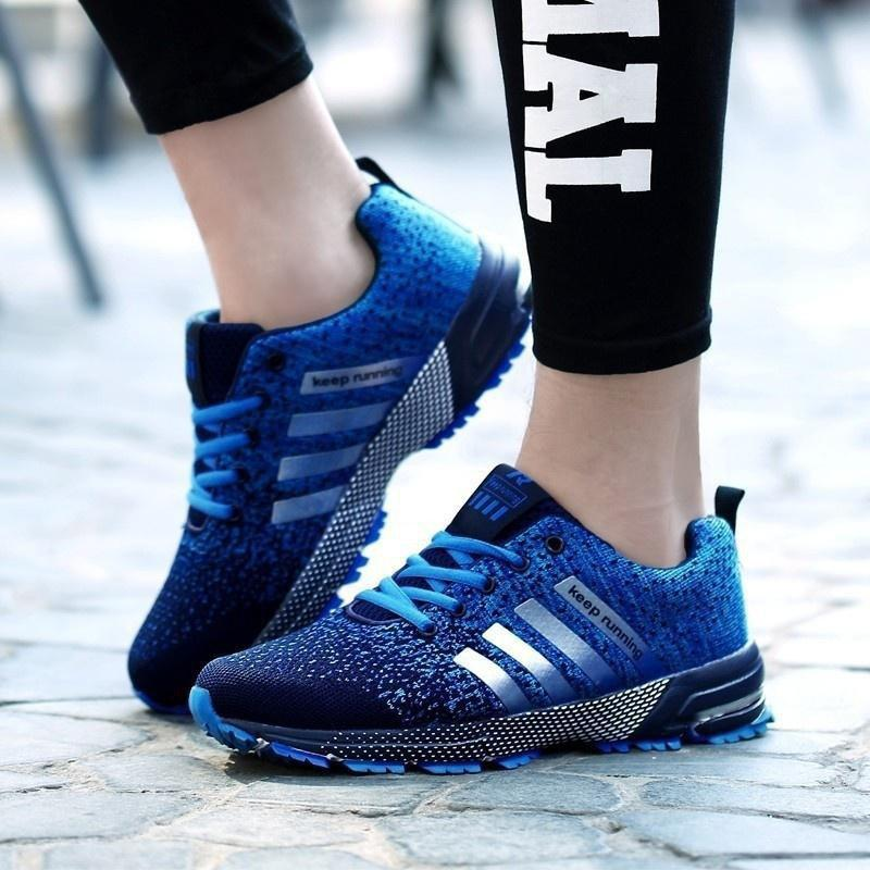 Athletic Shock Design Sport Shoes Lightweight Breathable Air Mesh Sneakers фото