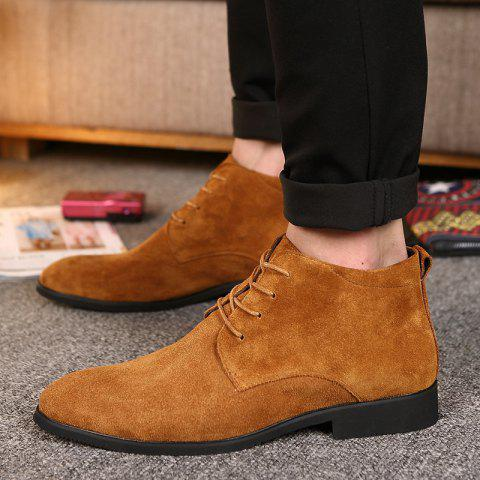 Classic Suede Leather Martin Boots - BROWN 43