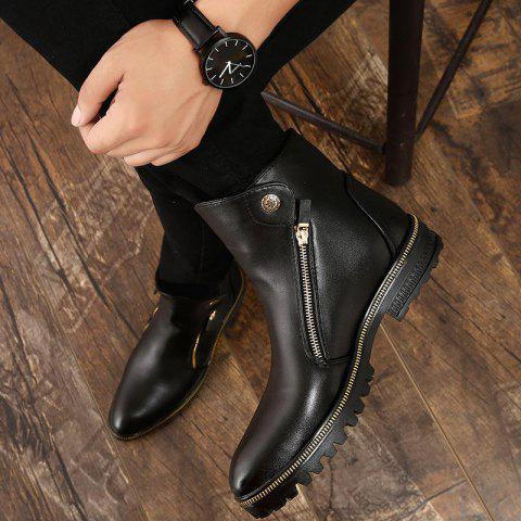 Men's Fashion Design Solid Color Boots - RED 9.5