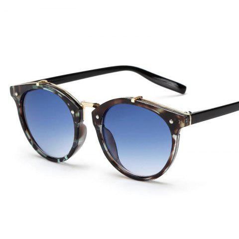 Vintage Round Sunglasses - BLUE/AMP; BLACK