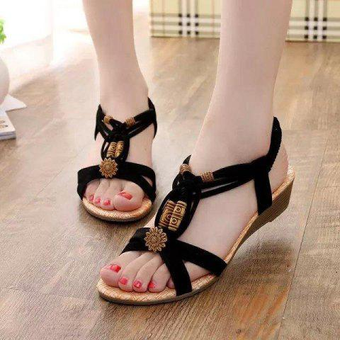 Sexy Causal Sandals Round Toe Fashion Shoes for Women - WHITE 7