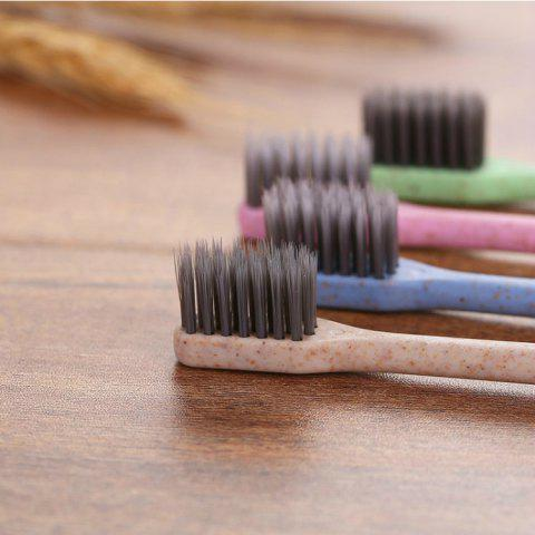 Family Small Head Bamboo Charcoal Toothbrush 10PCS - BLACK BAMBOO CHARCOAL TOOTHBRUSH