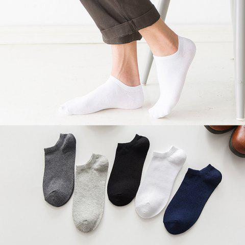 Socks Men's Spring And Summer Casual Solid Color Short Tube TC Cotton Socks One Yuan Socks A1 - A1 2 DEFAULT BANDMARK