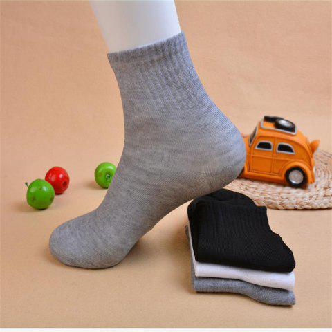 Independent Packaging Autumn And Winter Leisure Tube Sports Socks Men's Solid Color Yin And Yang Sports Socks Foot Bath Cotton Socks - NAKED SOCKS WHITE (10 PAIRS / HANDLE) ONE SIZE