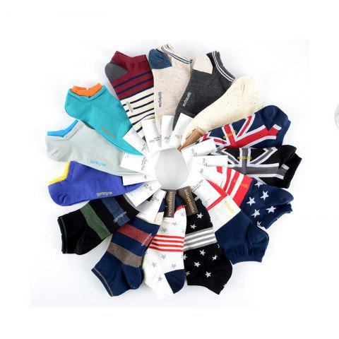 Men's Boat Socks Short Waist Socks Korea Imported Cotton Adult Socks Sweat Breathing Movement - 11 ONE SIZE