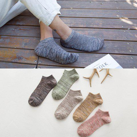 Low To Help Socks Summer New Men's Casual Double Needle Socks Thick Line Striped Men's Cotton Socks 882 - 882 3 ONE SIZE