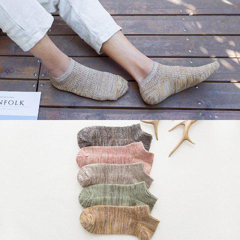 New Spring And Summer Casual Striped Socks Thick Line Men's Low Cut Socks Double Needle Men's Socks 882 - 882 1 ONE SIZE