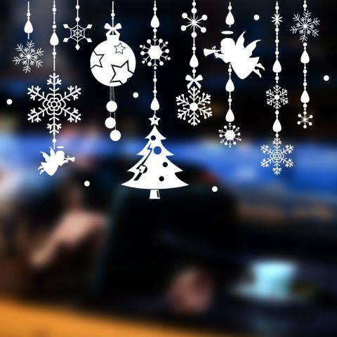 Removable Green Christmas Decoration Wall Sticker Christmas Glass Window Decoration Angel Bell Sticker 0991 - 90 60