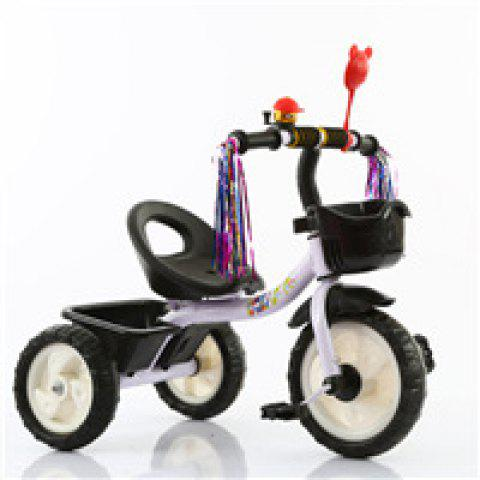 Children Tricycle Stroller Kids Bicycle Baby Toys - WHITE TRICYCLE STROLLER