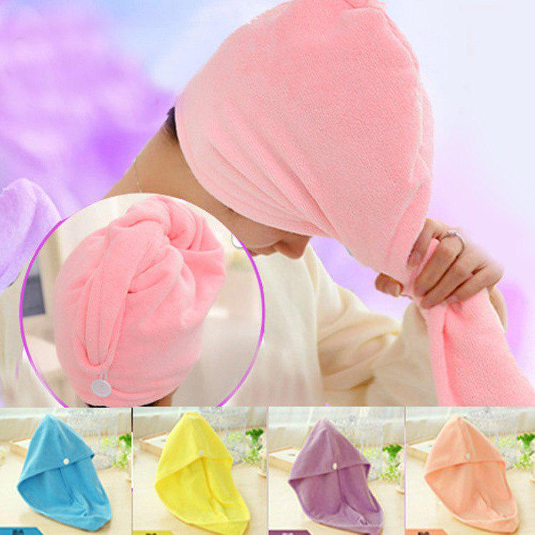 Absorbent Dry Hair Towel Thickening Shower Cap - PURPLE C02X8