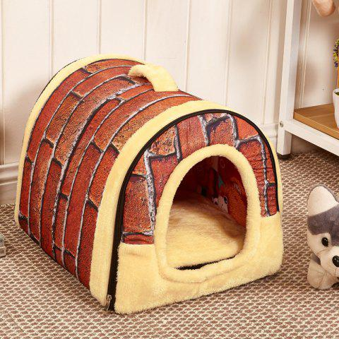 Pet Supplies Kennel Removable Pet Nests Pet Bed Cat Litter Pet Pad Dog Cage - WHITE STAR XL 70X55 CM