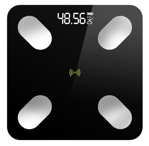 Smart APP Bluetooth Body Fat Called Multi-function Fat Scale Electronic Weighing Human Body Accurate Health - 6027 BLACK BATTERY