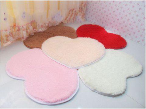 Cute Heart-shaped Silk Carpet Floor Mats - RED 30*40[MIXED BATCH 50 OR MORE SHIPPING #OTHER PLEAS