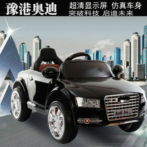 New Otti Children's Electric Car Four-wheel Drive Double-drive Remote Control Car With Swing Can Sit Baby Child Stroller Toy - ULTIMATE PAINT BLACK / EARLY CHILDHOOD SWING