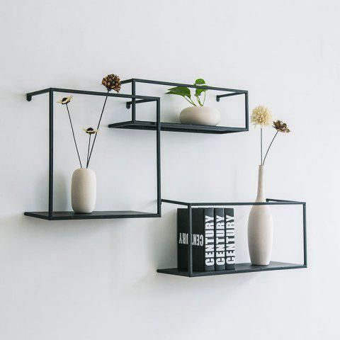 Ins Industrial Wind Wall Frame Shelf Partition Living Room Kitchen Wall Wall Decoration Partition Wall Mount - COMPLETE SET