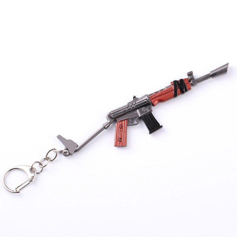 Game Fortress Night FORTNITE M4 Rifle Pickaxe Taro Skin Weapon Model Keychain