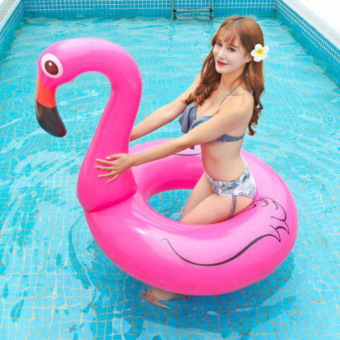 Europe And The United States Increase Inflatable Swimming Ring Flamingo Adult Water Swimming Ring Children Water Riding Ring - PINK FLAMINGO 90CM