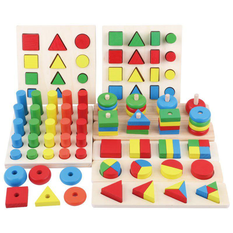Eight-in-one Combination Early Education Teaching Aids Children Early Education Building Blocks Assembled Educational Toy - 8 IN 1 EARLY EDUCATION
