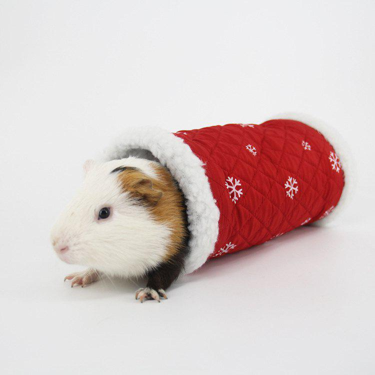 Hamster Hedgehog Winter Warm Nest Sleeping Bag Small Pet Channel Toy - RED ONE SIZE
