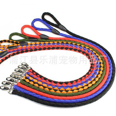 Nylon tissé à la main Chien Laisse Chien Laisse K9 Chest Strap Chien Chaîne Single Sale Pet Supplies - rouge et bleu MEDIUM (THICK 2.0CM* ROPE LENGTH 1.5M)