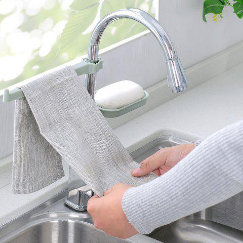Faucet Drain Rack Pool Kitchen Supplies Sink Sponge Rag Drain Rack - CORAL BLUE