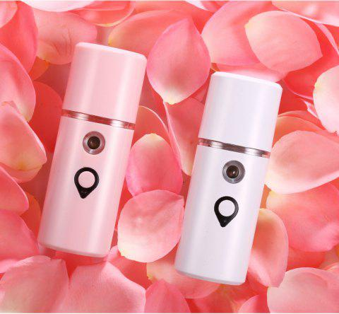 New Handheld Nano Spray Water Meter Portable Cold Spray Humidifier Mini Steaming Face Skin Care Hydrating Artifact - PEARL WHITE