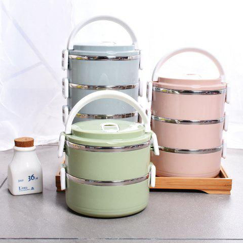 Stainless Steel Multi-layer Lunch Box - BLUE THREE FLOORS