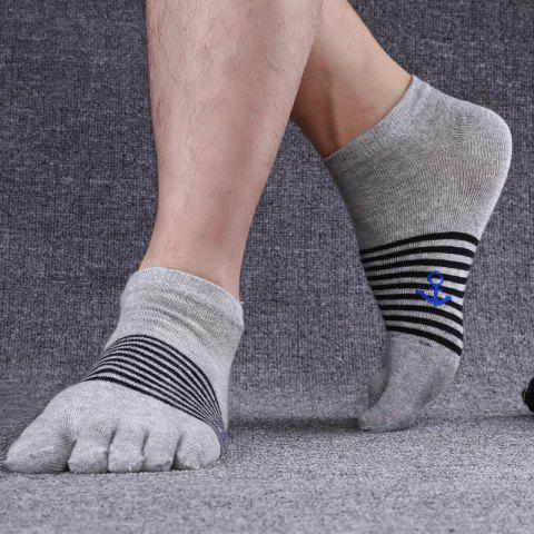 10 Pairs Of Summer Men's Cotton Five-finger Socks Cotton Toe Socks Factory - ZHANG QING