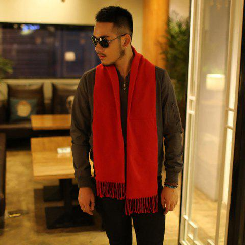 Autumn And Winter New Men's Scarves Solid Color Korean Version Of The Tide Men's Cashmere Scarf Thickening Business Warm Scarf - STYLE THREE 190*32