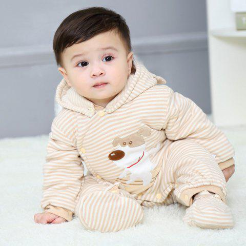 Hood Foot Cover Long Sleeves Romper Baby Cotton Jumpsuit - CARTOON DOG SPRING/AUTUMN THIN QUILTED ORDINARY 66CM