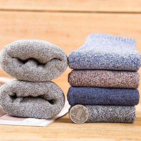 Men's Terry Socks Cotton Autumn And Winter Thick Warm Towel Socks Famous Solid Color Tube Men's Socks - DARK GRAY ONE SIZE