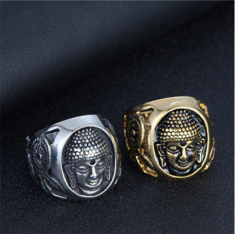 Men's Titanium Steel Buddha Ring Special Punk Shakya Mani Finger Ring