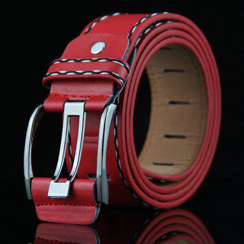 Stylish Retro Style Pin Buckle Belt For MenAccessories<br><br><br>Color: RED
