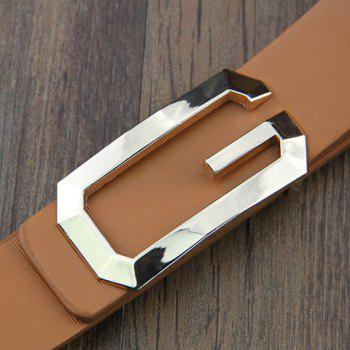 Stylish G Letter Shape Alloy Buckle Adjustable Belt For Men - BLACK