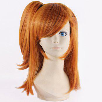 Stunning Medium with Clamp Ponytail Straight Synthetic Honoka Kousaka Cosplay Wig