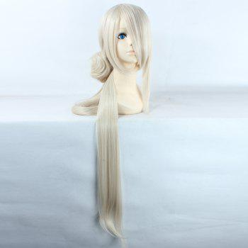 Noble Extra Long  with Chignons Synthetic Straight Ima No Tsurugi Cosplay Wig - OFF-WHITE OFF WHITE