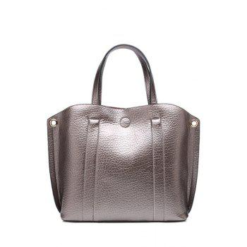 Concise Stitching and Solid Color Design Tote Bag For Women - SILVER GRAY SILVER GRAY