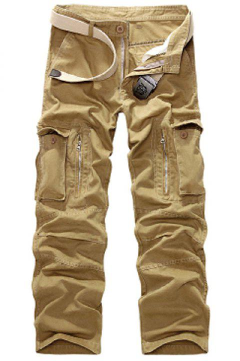 92506e3928 Casual Loose Fit Multi-Pockets Zip Fly Straight-Leg Cargo Pants For Men -