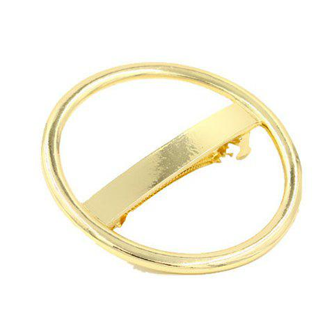 Trendy Solid Color Hollow Our Circular Shape Hairgrip For Women - GOLDEN