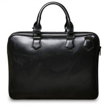 Vintage PU Leather and Black Design Briefcase For Men