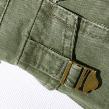 Casual Loose Fit Multi-Pockets Zip Fly Solid Color Cargo Pants For Men - GRAY 29