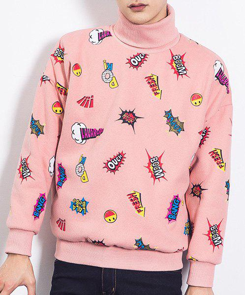 2018 Fashion Turtleneck Funny Cartoon Pattern Long Sleeves ... - photo#40