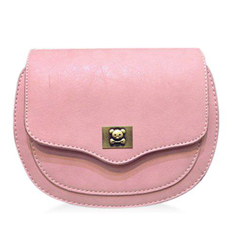 Trendy Tassels and Covered Closure Design Women's Crossbody Bag - PINK