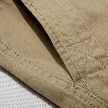 Casual Loose Fit Zip Fly Solid Color Multi-Pockets Cargo Shorts For Men - 38 38