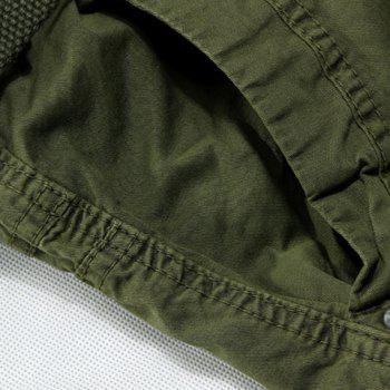 Loose Fit Casual Zip Fly Solid Color Multi-Pockets Cargo Shorts For Men - 34 34