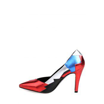 Trendy Color Block and Pointed Toe Design Pumps For Women - 38 38